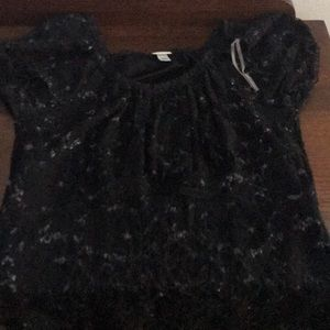 Black and Sparkly Blouse.